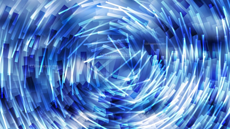 Abstract Blue Random Circular Striped Lines Background