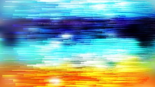 Abstract Blue and Orange Horizontal Lines Background Vector Illustration