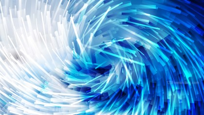Abstract Blue and White Random Twirl Striped Lines Background Illustrator