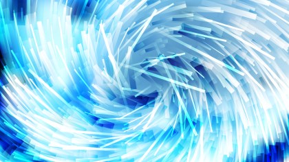 Blue and White Irregular Twirl Striped Lines Background
