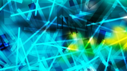 Abstract Blue and Yellow Chaotic Lines Background