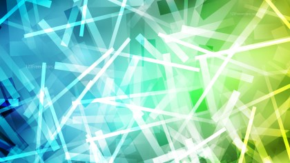 Blue Green and White Overlapping Lines Abstract Background