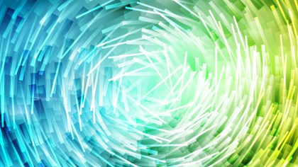 Blue Green and White Irregular Circular Lines Background Design