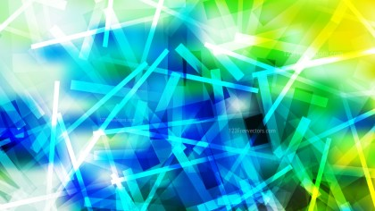Blue Green and Yellow Random Abstract Overlapping Lines Background