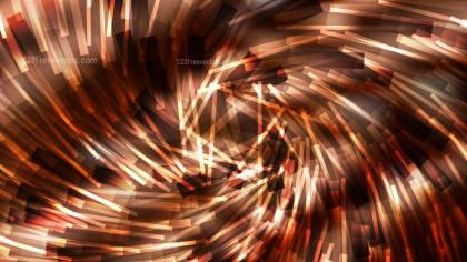 Coffee Brown Irregular Twirl Striped Lines Background Illustration