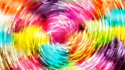 Abstract Colorful Irregular Circular Striped Lines Background Vector