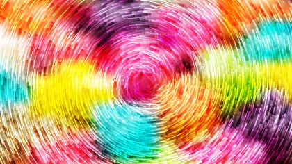 Abstract Colorful Circular Lines Background