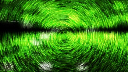 Abstract Green and Black Circular Lines Background