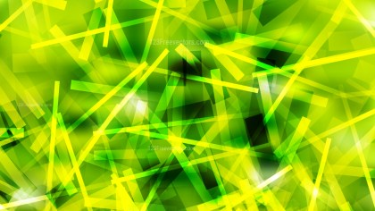 Abstract Green and Yellow Overlapping Lines Background Vector Illustration