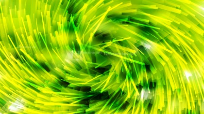 Abstract Green and Yellow Overlapping Twirl Striped Lines Background Illustration