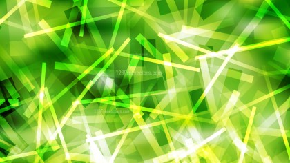 Abstract Green Yellow and White Overlapping Lines Stripes Background Vector