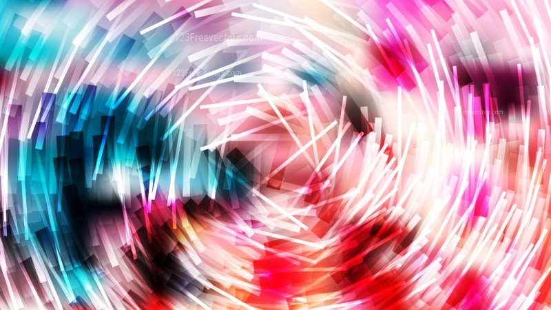 Abstract Pink Blue and White Irregular Circular Lines Background Vector