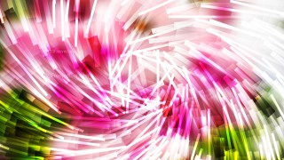 Abstract Pink Green and White Overlapping Twirl Striped Lines Background