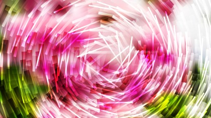 Abstract Pink Green and White Random Circular Lines Background Image