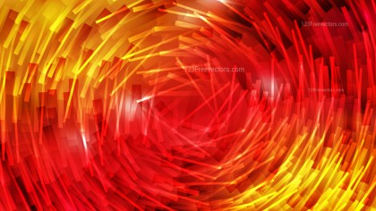 Red and Yellow Random Circular Striped Lines Background Vector Illustration