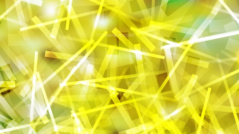 Abstract Yellow and White Chaotic Overlapping Lines Background Graphic