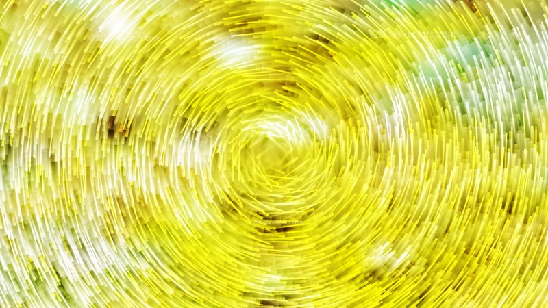 Yellow and White Circular Lines Background