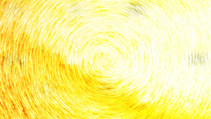 Abstract Yellow and White Circular Lines Background Illustrator