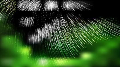Abstract Green Black and White Background Vector Illustration