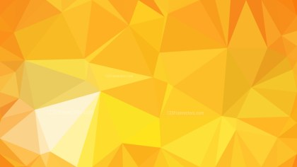 Amber Color Polygon Triangle Background Vector Illustration