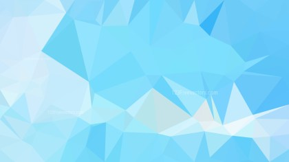 Baby Blue Polygon Triangle Pattern Background