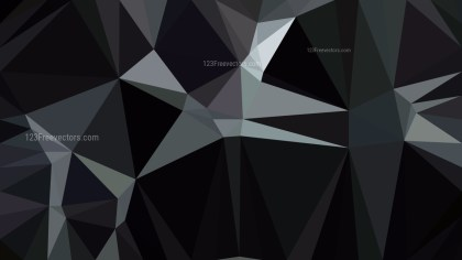 Black Polygon Background Template