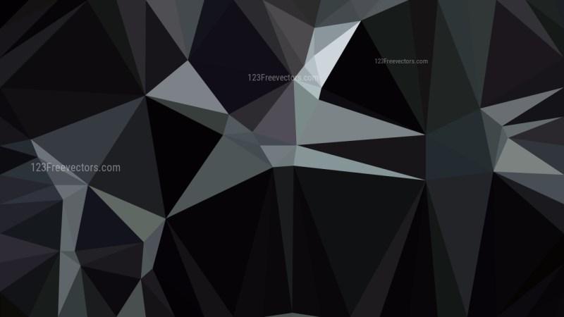 Black Polygon Background Template