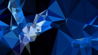Abstract Black and Blue Low Poly Background Template