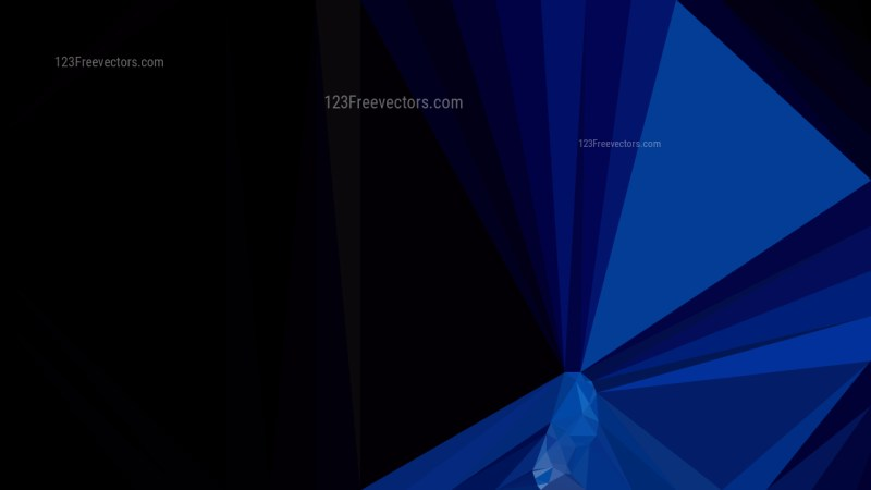 Abstract Black and Blue Polygonal Background