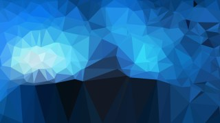 Abstract Black and Blue Polygon Background Vector