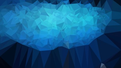 Black and Blue Low Poly Background Template Vector Graphic