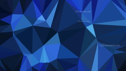 Black and Blue Polygonal Background Vector Image