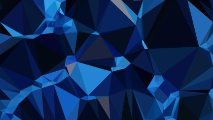 Black and Blue Low Poly Abstract Background Design Vector