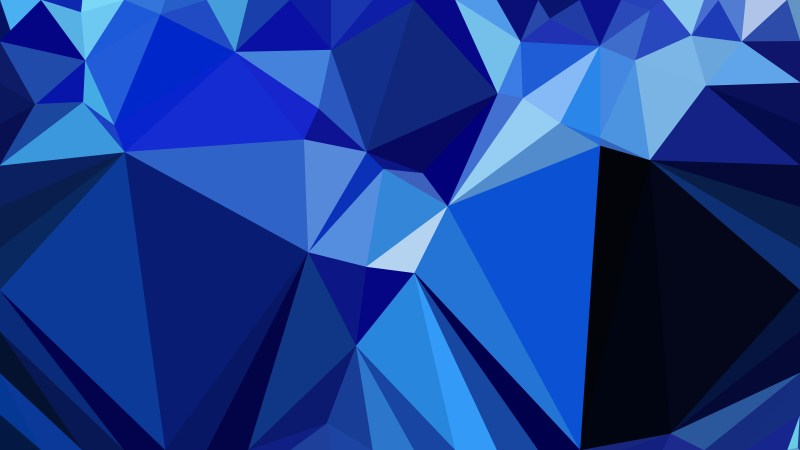 Black and Blue Polygon Abstract Background