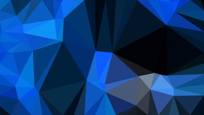 Black and Blue Polygon Triangle Background