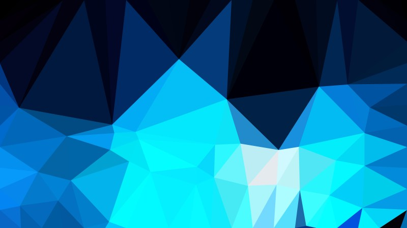 Abstract Black and Blue Polygon Pattern Background