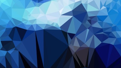 Abstract Black and Blue Polygonal Triangle Background