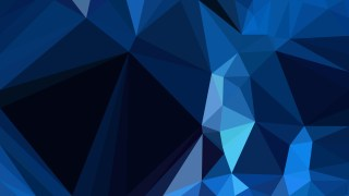 Abstract Black and Blue Polygon Triangle Background Vector Image