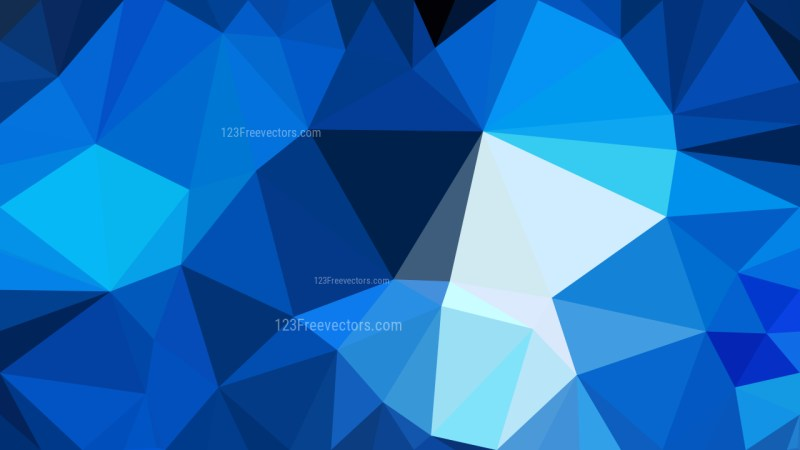 Abstract Black and Blue Polygon Background Graphic Design Vector Image