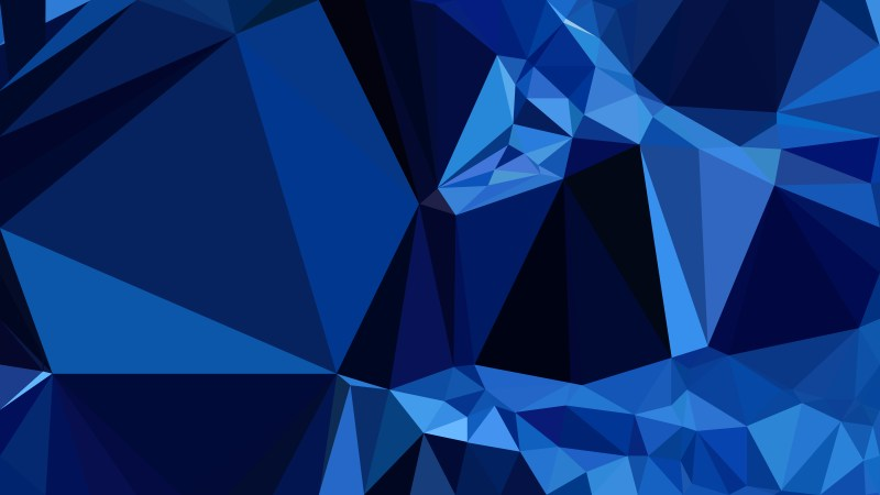 Abstract Black and Blue Polygon Triangle Background