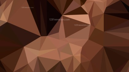 Abstract Black and Brown Polygonal Background Template Illustrator