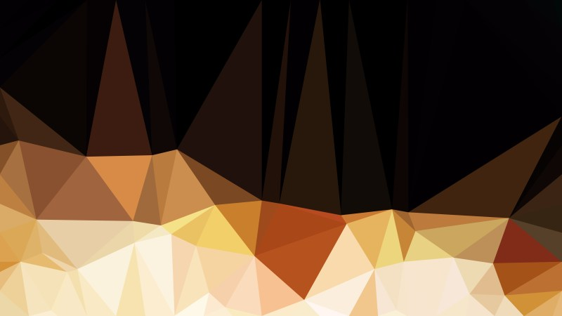 Abstract Black and Brown Low Poly Background Template