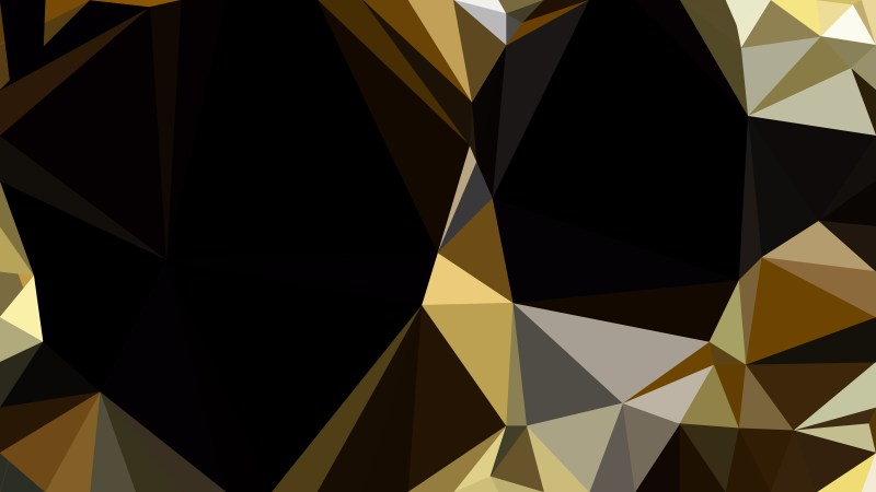 Abstract Black and Gold Polygonal Background Image