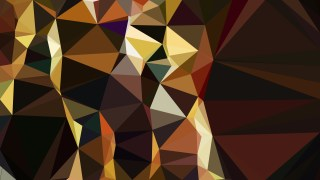 Abstract Black and Gold Polygon Triangle Background Vector Image