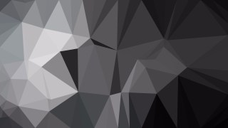 Abstract Black and Grey Polygonal Triangular Background Vector Illustration