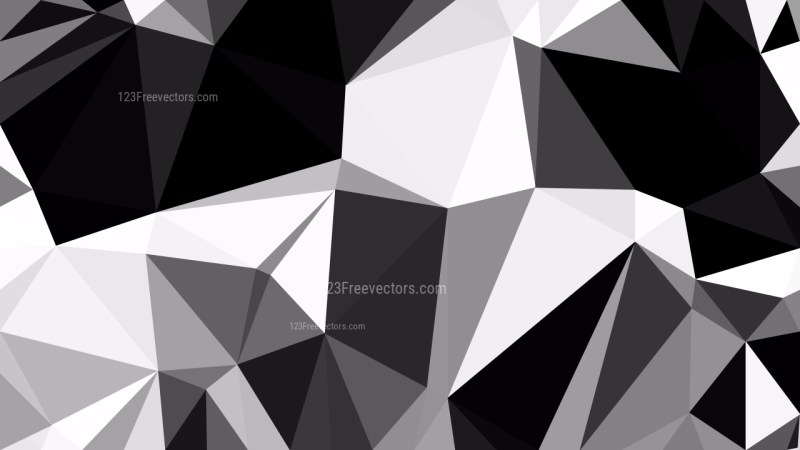 Abstract Black and Grey Polygon Background Graphic Design