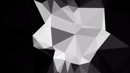 Black and Grey Polygonal Abstract Background Design Vector Art