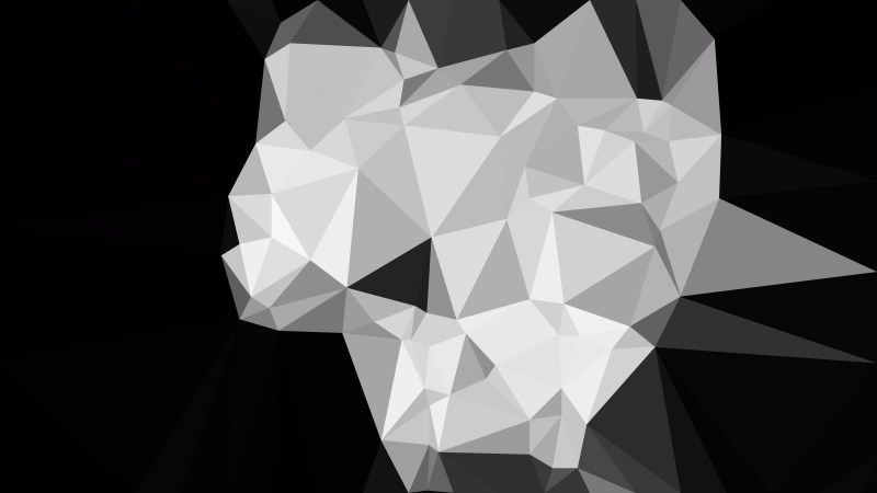 Black and Grey Polygon Pattern Background