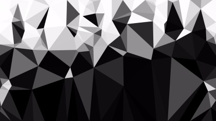 Black and White Polygon Background Graphic Design