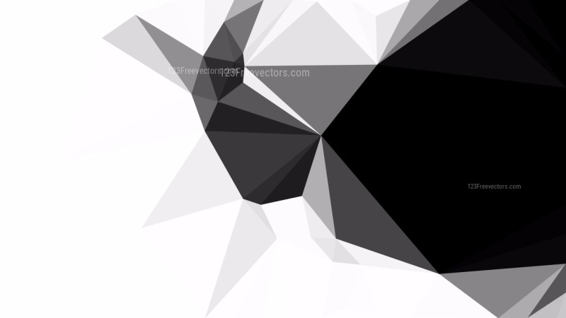 Black and White Low Poly Abstract Background Design